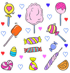 Doodle of candy object various vector