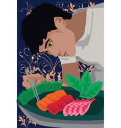 chef make food vector image