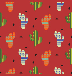 Cactus plant seamless pattern mexican vector