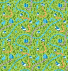 Landscape pattern in color vector image