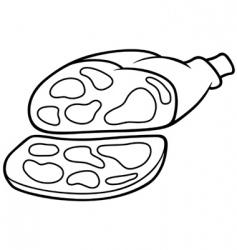 pork ham vector image