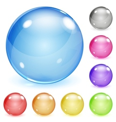 Multicolored opaque glass spheres vector image