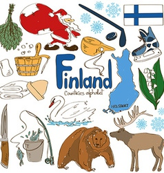 Collection of finland icons vector