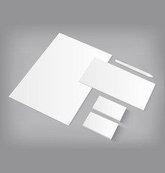 Set of corporate identity templates mock-up vector