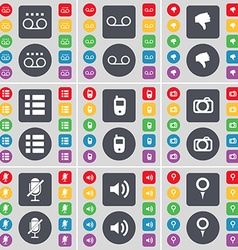 Cassette dislike list mobile phone camera vector