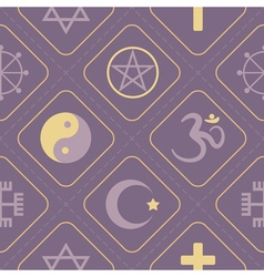 Seamless background with symbols of religion vector