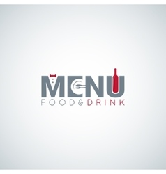 Food and drink menu wine plate background vector