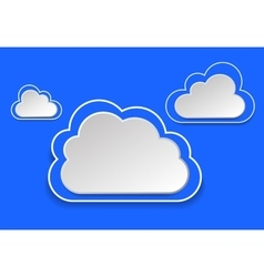 Paper clouds on a blue background eps 10 vector