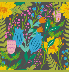 Beautiful floral seamless pattern in gentle colors vector