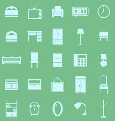 Bedroom color icons on green background vector image vector image