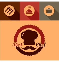 best chef labels vector image