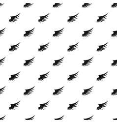 Birds wing pattern simple style vector