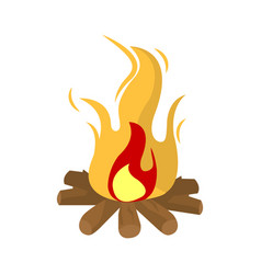 Burning fire isolated on white vector