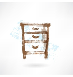 chest of drawers vector image