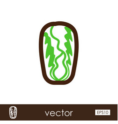 Chinese cabbage outline icon vegetable vector