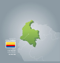 Colombia information map vector