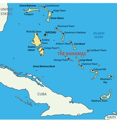 Commonwealth of the Bahamas - map vector image vector image