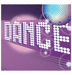 Dance party background vector