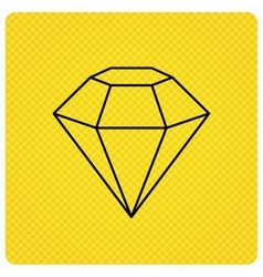 Diamond icon Brilliant gemstone sign vector image vector image