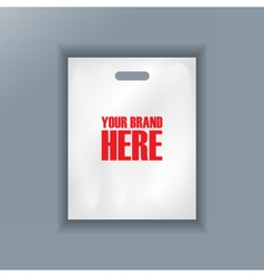 Digital cellophane bag plastic mockup vector