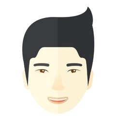Face of a happy chinese guy vector