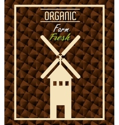 Farm fresh organic product vector