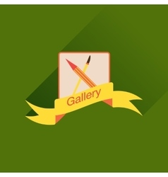 Flat icon with long shadow mobile phone gallery vector