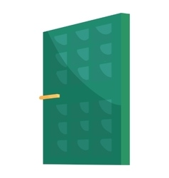 Green house door icon cartoon style vector