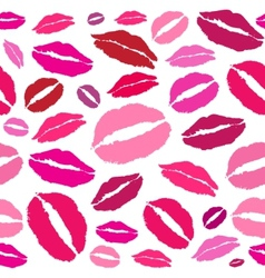 Kiss red lips vector