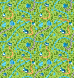 Landscape pattern in color vector image vector image