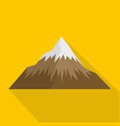 mountain icon flat style vector image vector image