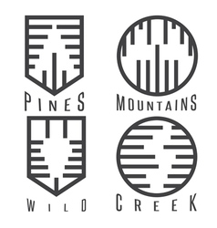 outdoor adventure rhythm style sticker set vector image