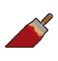 paint brush tool isolated icon vector image