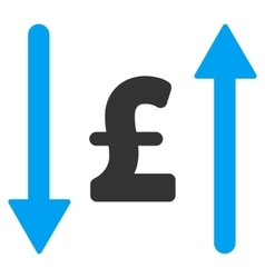 Pound swap flat icon symbol vector