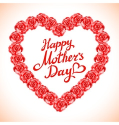 red rose mother Day Heart Made of Red Roses vector image