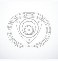 Rotary wankel engine vector