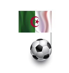 Soccer balls or footballs with flag of algeria vector