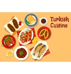 Turkish cuisine icon for restaurant design vector image vector image