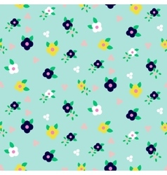 Spring small wild flower field seamless pattern vector
