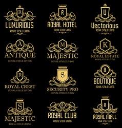 Luxurious Royal Logos vector image