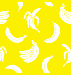 Seamless pattern banana vector