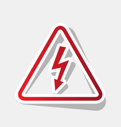 High voltage danger sign  new year reddish vector