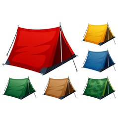 Camping tents vector