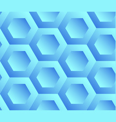 Abstract background blue hexagons vector