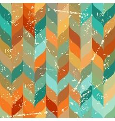 Seamless grunge pattern in retro style vector image
