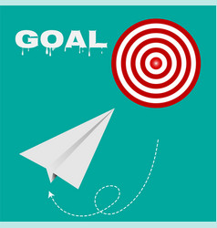 Target route success business strategy concept vector
