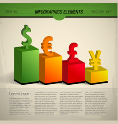 Colored currency infographic vector