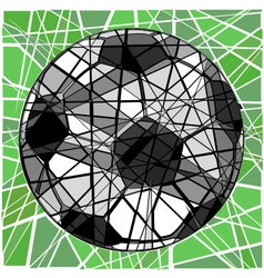 Cracking football vector
