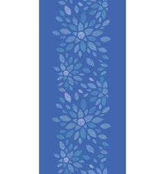 Blue textile peony flowers vertical seamless vector
