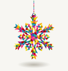 Christmas holidays triangle snowflake vector